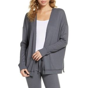 NEW PROJECT SOCIAL T Thermal Waffle Knit Cardigan